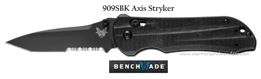 Benchmade Axis Stryker Black Blade Partially Serrated 909SBK