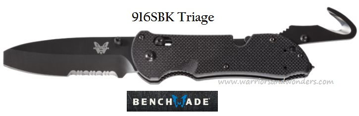 Benchmade Triage Black Blade w/Serration 916SBK (Online Only)