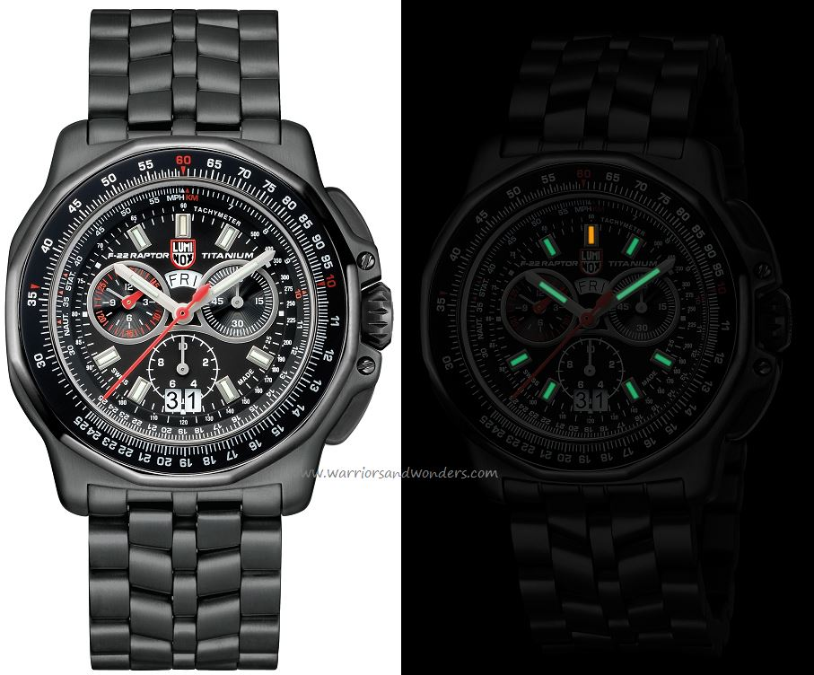Luminox Air A.9272 F-22 Raptor Series - Titanium