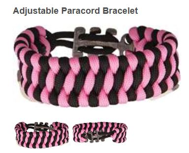 CRKT 9400PK Adjustable Paracord Bracelet Pink