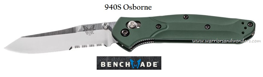 Benchmade 940S Osborne Satin Blade w/Serration