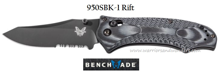 Benchmade 950SBK-1 Rift Black Blade w/Serration