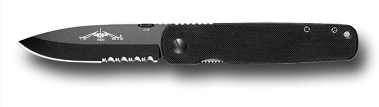 Emerson A100-BTS Black Blade, Partially Serrated