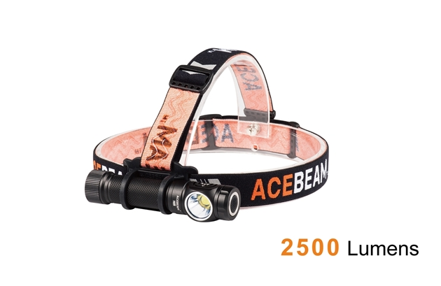 Acebeam H15 Headlamp Black - 2500 Lumens