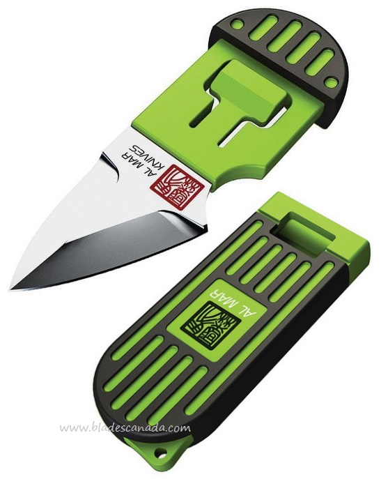 Al Mar Stinger Keyring Knife Green, D2 Steel AMK1001BKG