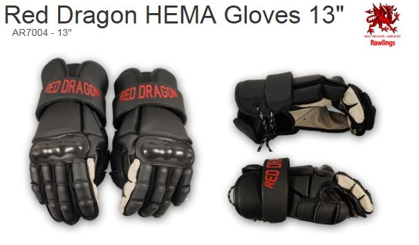 Red Dragon Armoury HEMA Gloves 13""