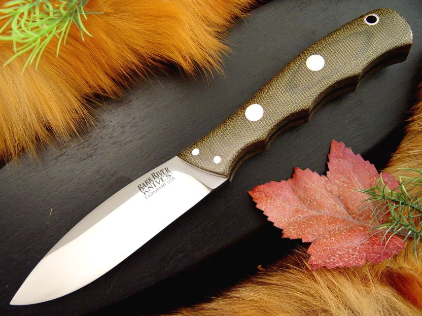 Bark River 129MGC Canadian Special - Green Micarta