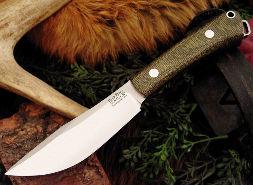 Bark River 145MGC Trail Buddy - Green Micarta