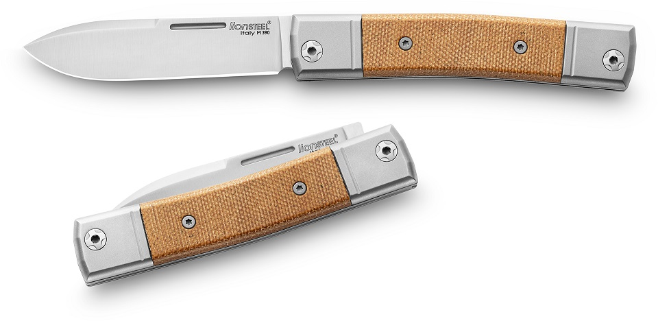 Lion Steel BM2 CVN BestMAN Slipjoint Single Drop Point- Natural Micarta