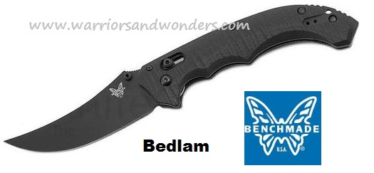 Benchmade 860 Bedlam Black Plain Edge