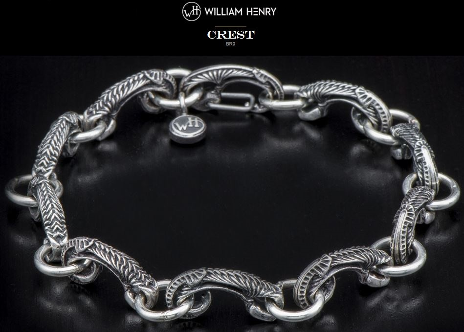 William Henry BR9 Crest Bracelet Sterling Silver