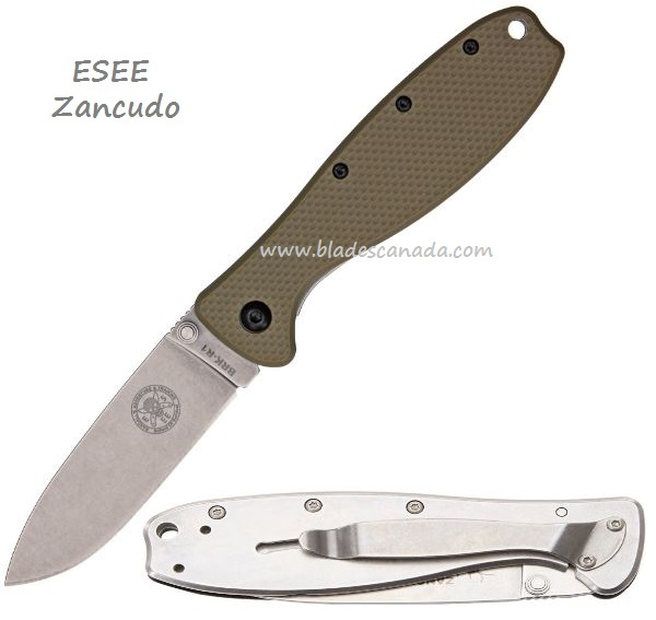 ESEE BRKR1DT Zancudo Framelock - Tan Handle (Online Only)