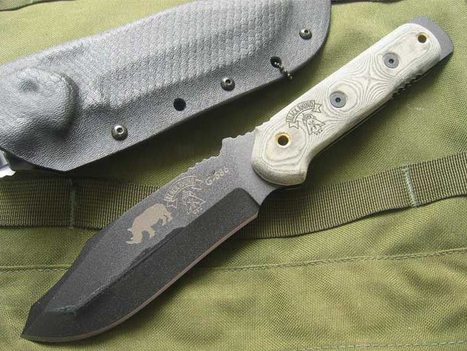 TOPS BRM101 Black Rhino Micarta, by Jason Breedon w/Kydex Sheath