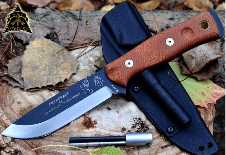 TOPS BROS01 B.O.B. Knife w/Kydex Sheath and Fire Starter