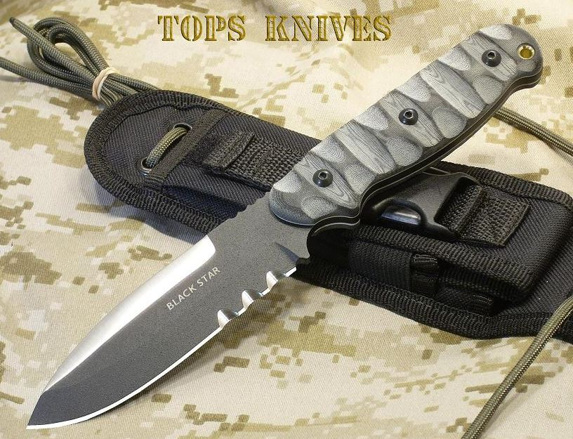 TOPS BSE01 Black Star Evolution w/ Nylon Sheath (Online Only)
