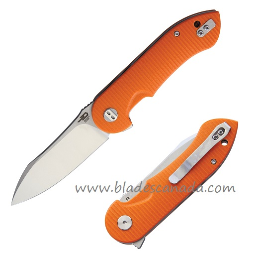 Bestech Torpedo Orange G10, D2 Steel Folder BTKG17D1