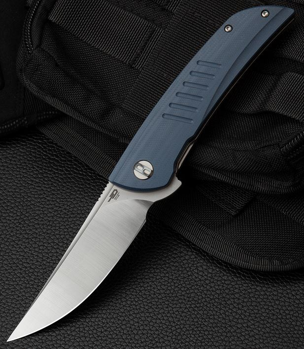 Bestech Knives Swift Flipper Folder, D2 Steel, Grey G10, BTKG30E