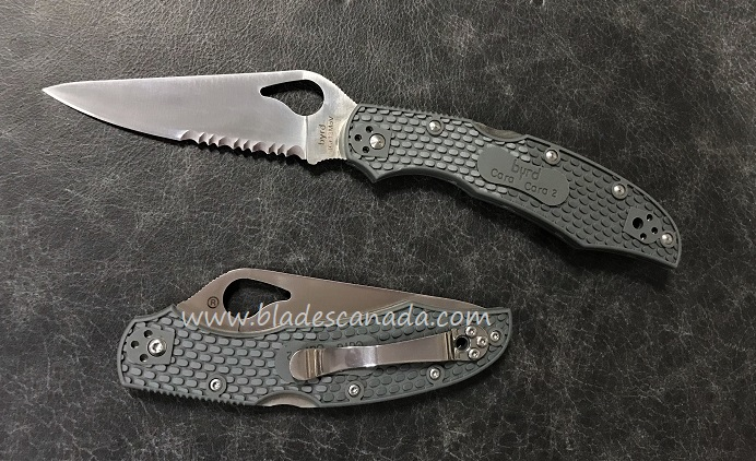 Byrd Knives Cara Cara Grey FRN w/Serration BY03PSGY2