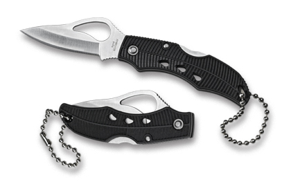 Byrd BY11PBK Finch Keychain Knife FRN Plain Edge by Spyderco