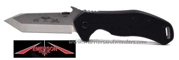 "Emerson Bulldog SF Satin Plain Edge ""Wave"" Folder"