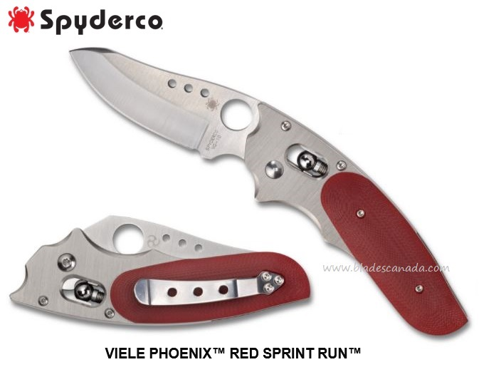 Spyderco Knives Viele Phoenix Red, VG10, Sprint Run, C114GRD