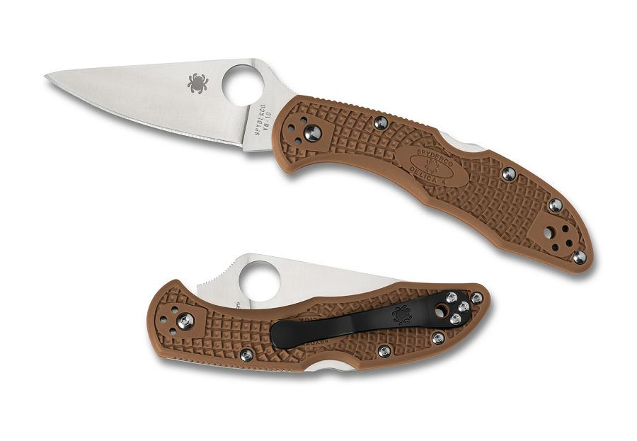 Spyderco Delica 4 Brown FRN FFG Folding Knife C11FPBN (Online Only)