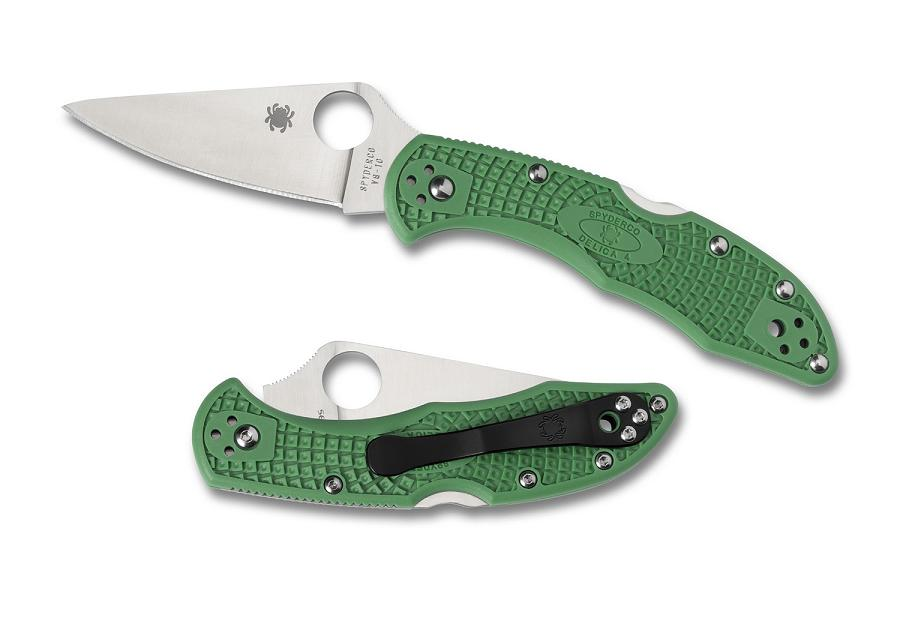 Spyderco Delica 4 Green FRN Handle FFG Folding Knife C11FPGR