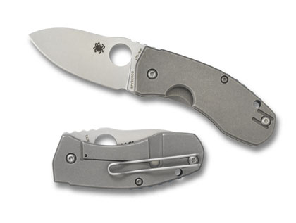Spyderco Techno CTS-XHP By Marcin Slysz Folding Knife C158TI