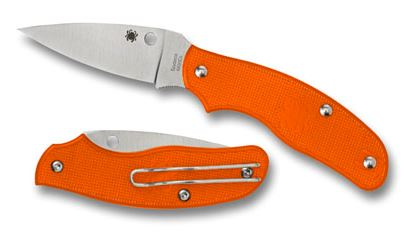 Spyderco C179POR Spy-DK Orange Slipit N690Co Folding Knife