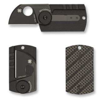 Spyderco Dog Tag S30V Folder Carbon Fiber C188CFBBK