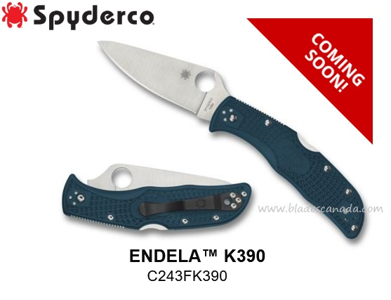 (Coming Soon) Spyderco Knives Endela, K390 Steel, FRN, C243FPK390