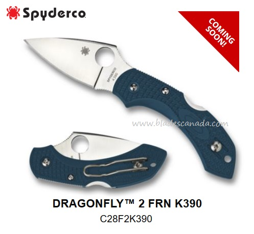 Spyderco Dragonfly 2 K390 Steel, FRN, C28FP2K390 (Coming Soon)