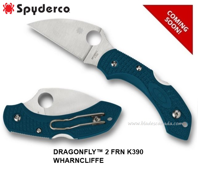 (Coming Soon) Spyderco Knives Dragonfly 21 Wharncliffe, K390 Steel, C28FP2WK390
