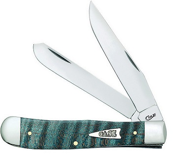 Case 23360 Trapper - Turquoise Curly Maple (Online Only)