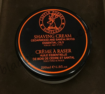 Castle Forbes Cedar and Sandalwood Shaving Cream 200mL
