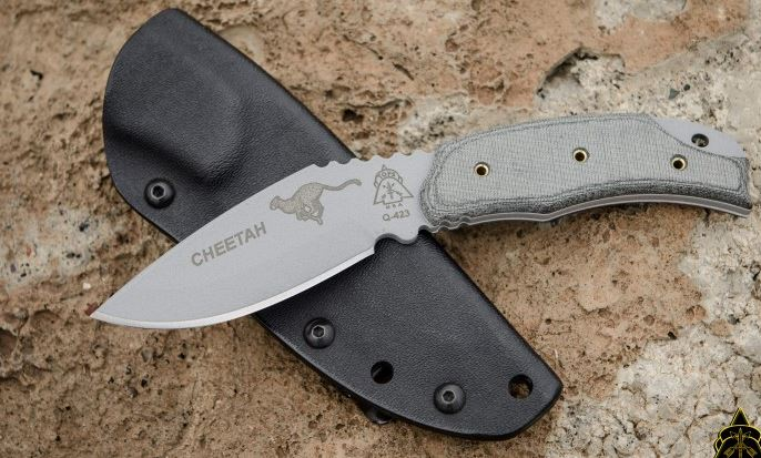 TOPS CH262 Cheetah Micarta Handle w/Kydex Sheath (Online Only)
