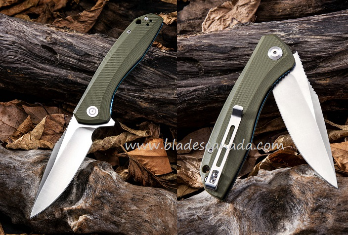 CIVIVI C801A Backlash Folder - Green G-10