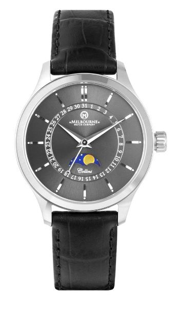 Melbourne Collins 38 Moonphase - Gunmetal Grey