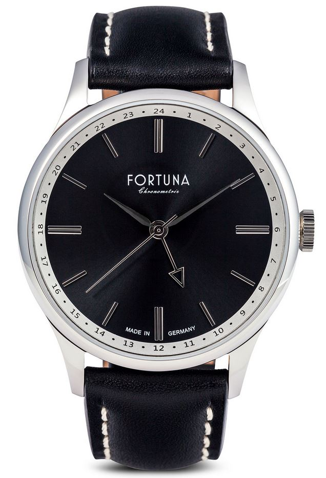 Fortuna Chronomaster GMT 43mm Black Dial - CM72465