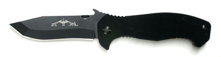 "Emerson CQC15 BT Black Plain Edge ""Wave"" Folder"