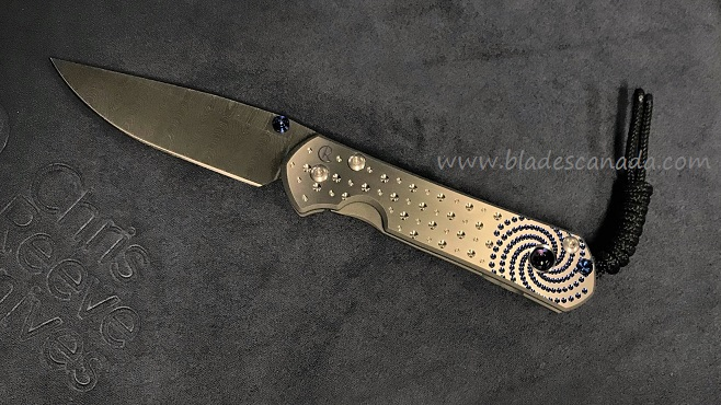 Chris Reeve Small Sebenza 21 Unique Ladder Damascus, Amethyst