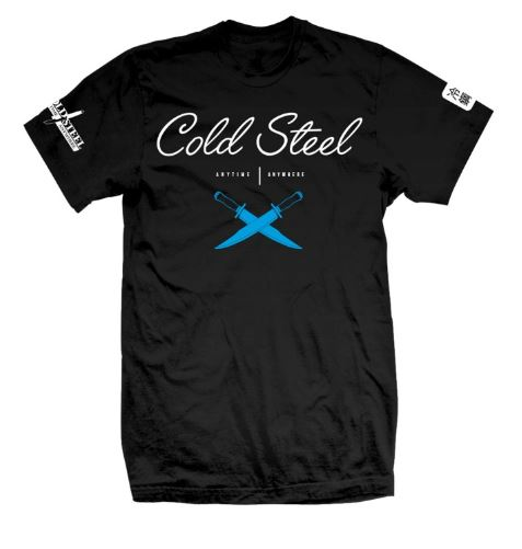 Cold Steel Men's Cursive Cross Guard T-Shirt, Black