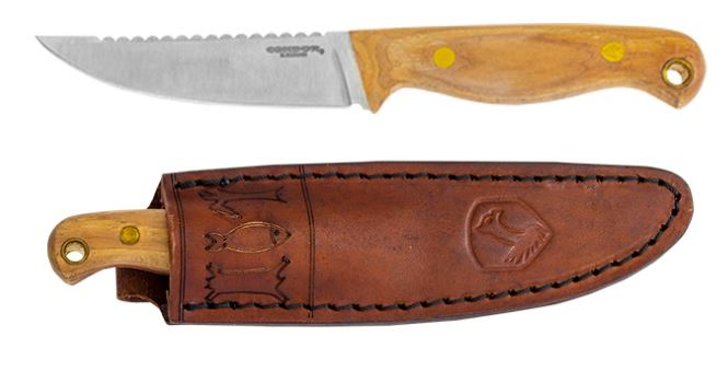 Condor Knives Trelken Knife, 420HC Steel, Hickory, Leather Sheath, CTK114-3.5ss