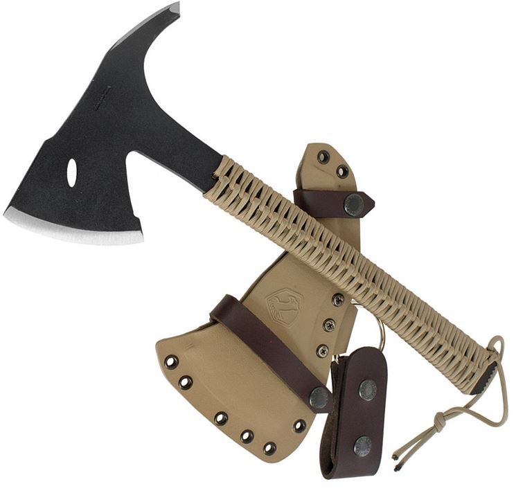 Condor Sentinel Axe, 1075 Carbon, Tan Cord, Kydex Sheath, CTK1810-3.6