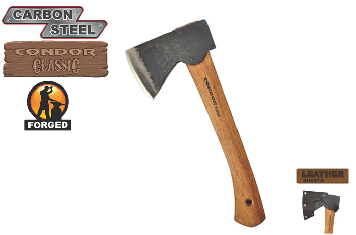 Condor CTK4053C10 Scout Hatchet w/ Leather Sheath (Online Only)
