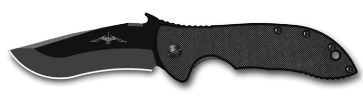 "Emerson Commander BT Black Plain Edge ""Wave"" Folder"