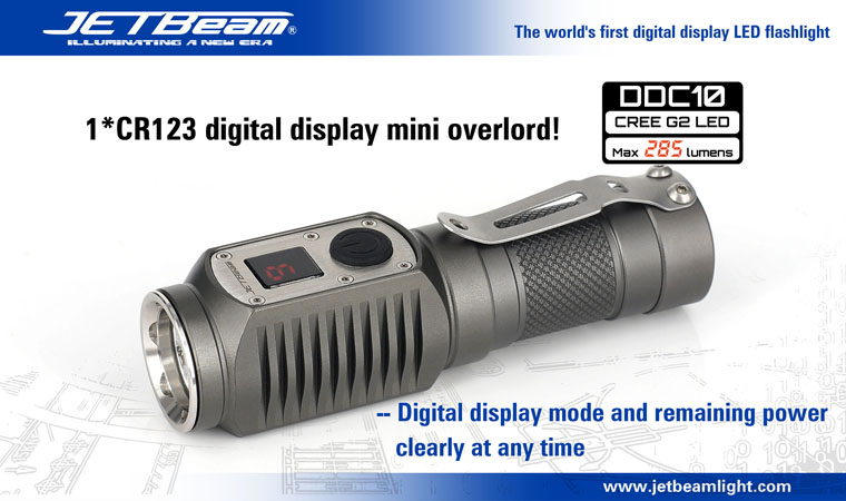 JETBeam DDC10 Flashlight 285 Lumens