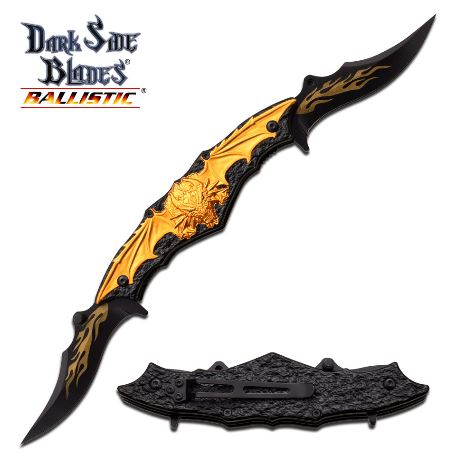 MC Dark Side DSA037GD Dual Fantasy Knives, Assisted (Online Only