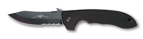 "Emerson CQC8 BTS Black Partially Serrated ""Wave"" Opening"