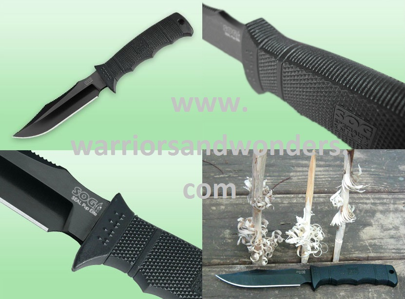 SOG Seal Pup E37SK Elite Black TiNi w/ Kydex Sheath
